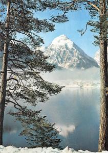 Am Achensee Berg Winter Lake Mountain Landscape