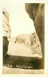 Arch Palm Canyon California Palm Springs 1940s RPPC Photo Postcard 20-3109