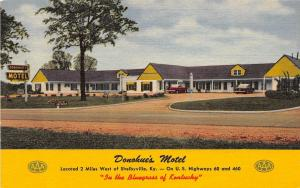 Kentucky Ky Postcard Linen Roadside SHELBYVILLE Donohue's Motel Building