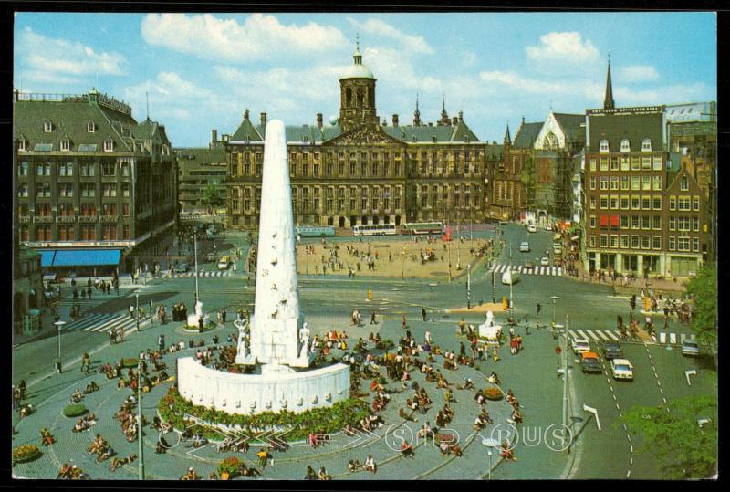 AMSTERDAM HOLLAND - National Monument, the heart of the capital and the Royal Pa