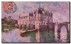 Chenonceau Old Postcard The castle