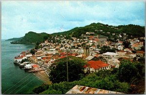 St. George's GRENADA West Indes Postcard Panorama View The Spice Island