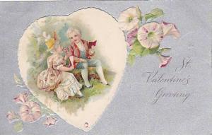St. valentine's Greeting, Man reading to woman, PU-1908