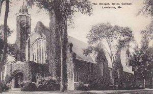 Maine Lewiston Chapel Bates College Albertype