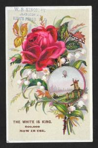 VICTORIAN TRADE CARD The White Sewing Machine is King