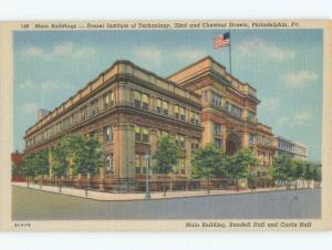 Linen DREXEL INSTITUTE OF TECHNOLOGY Philadelphia Pennsylvania PA E2777