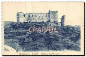 Old Postcard Gre'oulx les Bains Chateau Templar