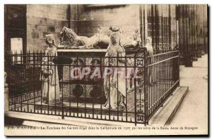 Old Postcard Nantes Death Grave of the Carmelites erected in the cathedral