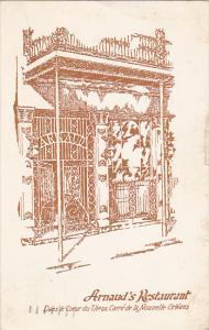 Louisiana New Orleans Arnaud's Restaurant 1950
