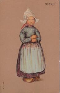 Netherlands Dirkje Young Girl In Traditional Dress