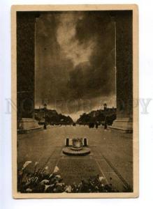 170892 NIGHT Unknown Soldier grave TOMB Paris YVON vintage PC