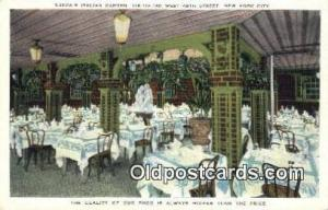 Zucca's Italian Garden Restaurant, New York City, NYC Postcard Post Card USA ...