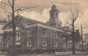 Berea Kentucky view of Memorial Chapel Berea College antique pc Y10852