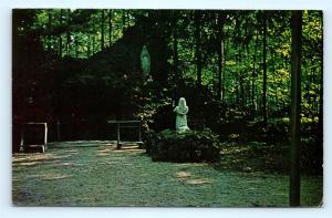 Postcard OH Bellevue Sorrowful Mother Shrine Lourdes Grotto R71