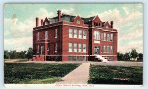ALVA, Oklahoma OK ~ PUBLIC SCHOOL Building c1910s Woods County   Postcard