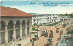 Greetings from Jamaica King Street looking North, postcard