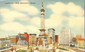 Monument Circle - Indianapolis IN, Indiana - Linen
