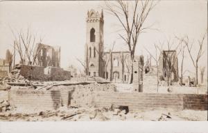 RP, CHELSA , Massachusetts, Fire of April 12, 1908 ; Burnt Bldgs