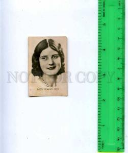 188467 Miss IRELAND 1929 year Vintage photo CIGARETTE card