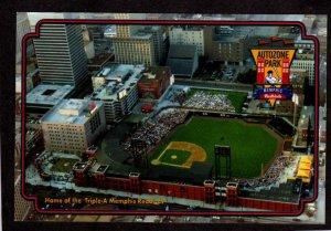TN Autozone Triple A Baseball Stadium Memphis Redbirds Tennessee Postcard