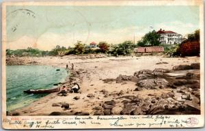 Beach at Cape Cottage Maine, Undivided Back c1906 Vintage Postcard I20