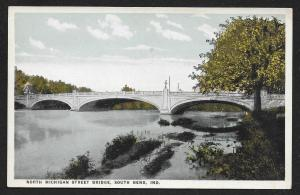 North Michigan Street Bridge South Bend Indiana Unused c1920s