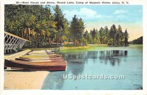 Round Lake, Camp of Masonic Home Utica NY Unused