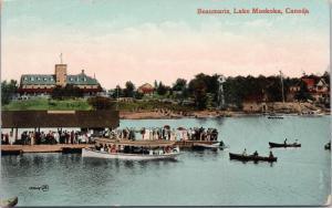 Beaumaris Lake Muskoka Ontario ON Unused Postcard E35