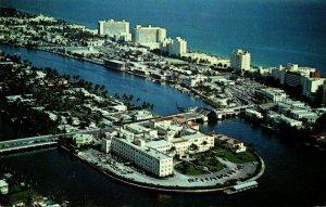 Florida Miami Beach North Beach Showing Hotel Row and St Francis Hospital 1961