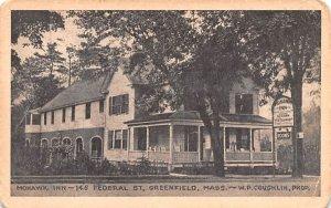 Mohawk Inn Greenfield, Massachusetts Postcard