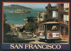 Colour PC  San Francisco Cable Car Alcatraz unused