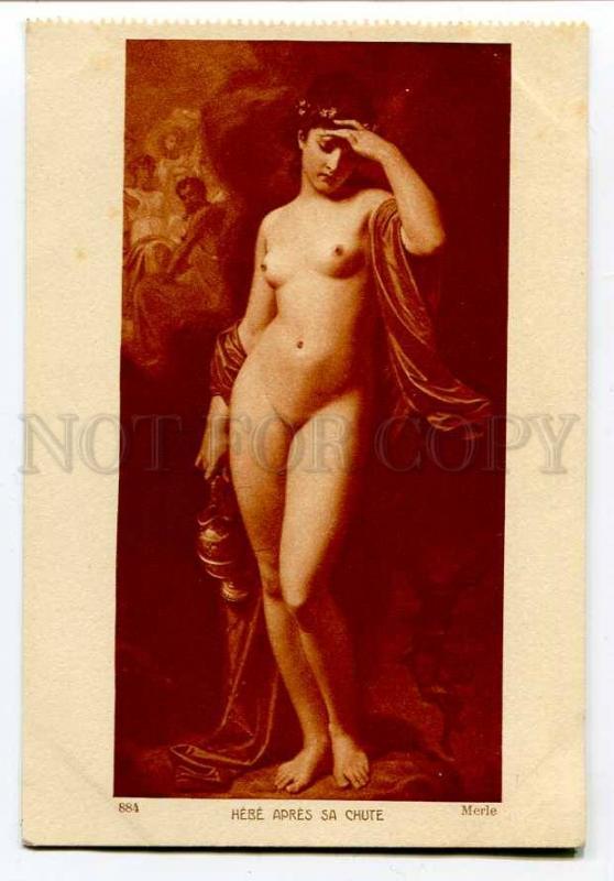 hebe nudist  257259 NUDE Hebe GODDESS by MERLE Vintage SALON #884 PC ...