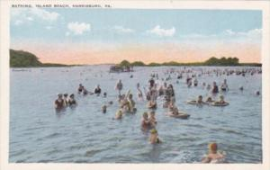 Pennsylvania Harrisburg Bathing On Island Beach