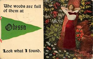 The Woods Are Full of Them  at Odesso Missouri~I found Pretty Lady~Babe~1913