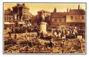 Nostalgia Postcard The Market Square, Petersfield, Hampshire Repro Card #N484