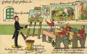 BOER WAR, Caricature, Chamberlain teaching British Tin Soldiers (1899)