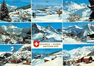 Switzerland multiviews Soerenberg Arosa Saas Fee Bettmeralp Zermatt Engelberg