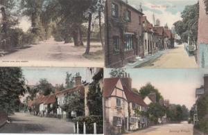 Sonning Lane Village Berkshire 4x Antique Postcard s