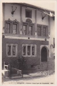 Switzerland Gruyeres Maison Historique de Chaiamala Real Photo