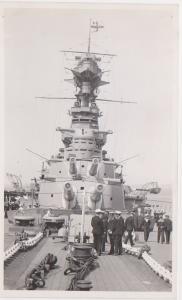 FORWARD GUNS OF HMS HOOD