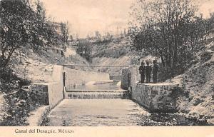 Mexico Old Vintage Antique Post Card Canal del Desague 1924