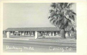 CA, Corning, California, RPPC, Shastaway Motel