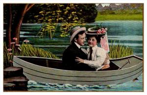 8152   Romance,  Lovers in Boat,  My Little Eva,  Theochrom Series 1084 , 5 of 6