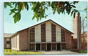Ruston Louisiana First Baptist Church 200 South Trenton Vintage Postcard D82