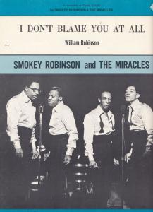 Smokey Robinson I Dont Blame You At All XL Piano Sheet Music