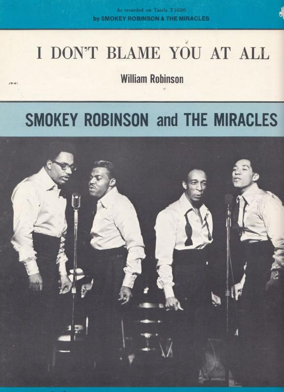 Smokey Robinson I Dont Blame You At All XL Piano Sheet Music