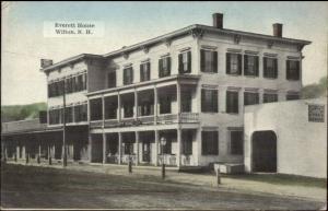 Wilton NH Everett House c1910 Postcard