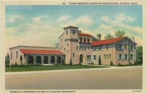 CO, Pueblo, Colorado, YWCA, Curteich No. 7A-H1556