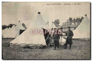 Old Postcard Army Camp & # 39Auvours Interior