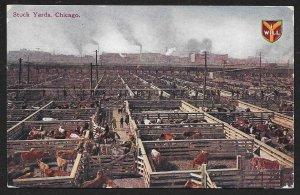 Stock Yards Chicago Illinois Used c1910